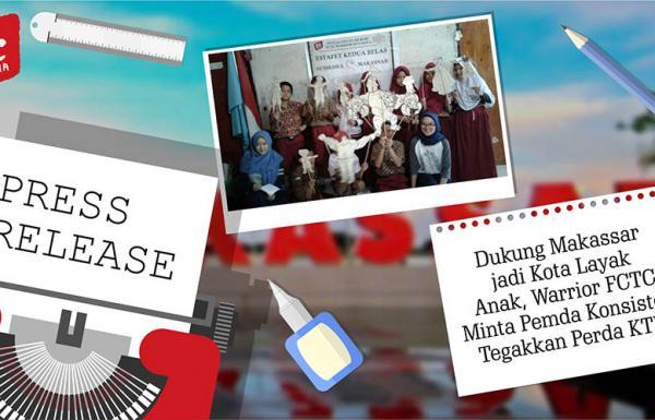Dukung Makassar jadi Kota Layak Anak, Warrior FCTC Minta Pemda Konsisten Tegakkan Perda KTR